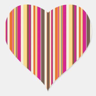Bold Colorful Pink Orange Brown Stripes Pattern Stickers