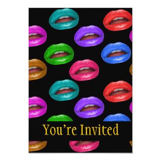 Bold Colorful Pouty Lipstick Lips Card