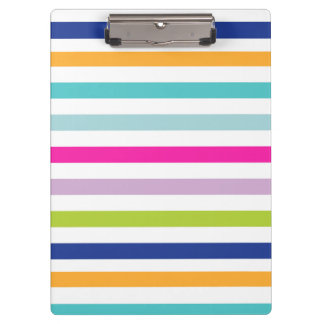 Bold Colorful Stripes Clipboards