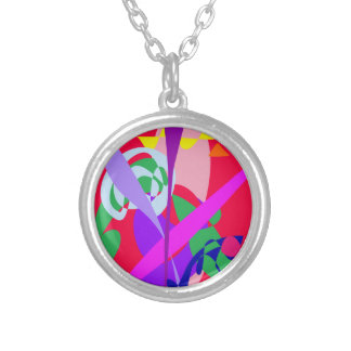 Bold Colors Abstract Art Red Custom Jewelry