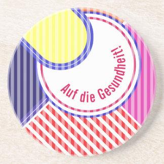 Bold colors, fine graphic design coaster