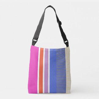 Bold colors, fine graphic design crossbody bag