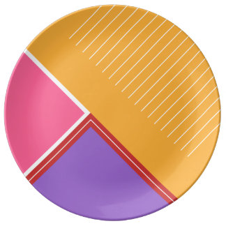 Bold colors, fine graphic design plate