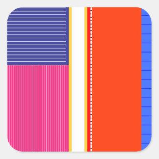 Bold colors, fine graphic design square sticker