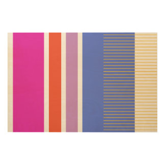 Bold colors, fine graphic design wood wall art