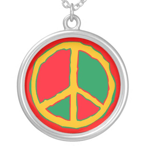 Bold Colors in Retro Peace sign Necklace gifts gif