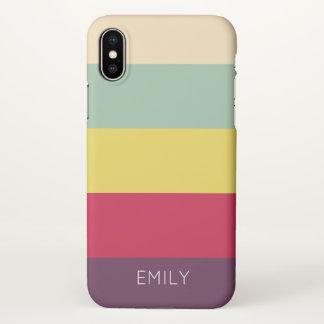 bold colors trendy modern fun clear iPhone X case