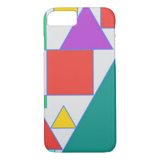Bold coloured abstract design iPhone 8/7 case