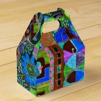 Bold & Colourful Mosaic of Shapes Party Favour Box