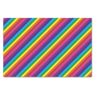 Bold Colourful Rainbow Stripes Pattern Tissue Paper