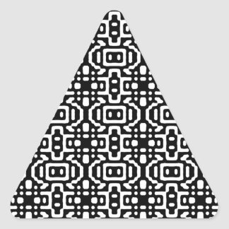 Bold & Cool Black and White Pattern Triangle Sticker