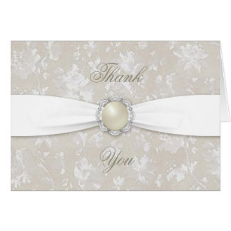 Thank You Notes For Wedding Anniversary Gifts : Bold Damask 30th Wedding Anniversary Thank You Note Card