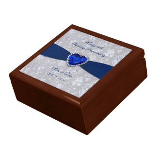 Bold Damask 45th Wedding Anniversary Gift Box