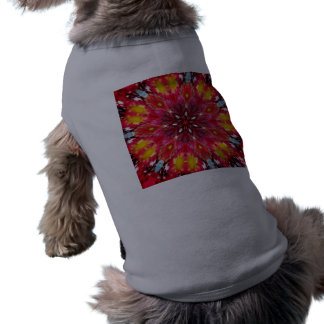 Bold Daring Flame Kaleidoscope Sleeveless Dog Shirt