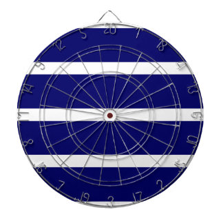 Bold Dark Blue Stripes Dartboard