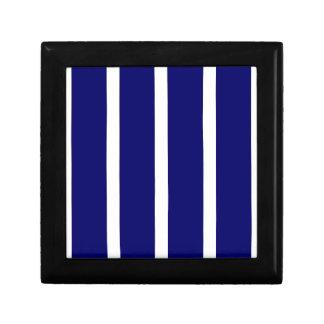 Bold Dark Blue Stripes Gift Box