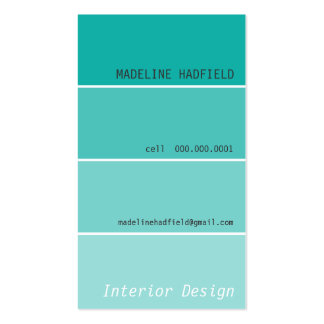 BOLD DESIGN paint swatch painter jade Pack Of Standard Business Cards