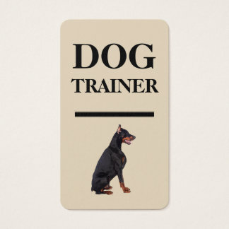 Bold Dog Trainer Business Cards