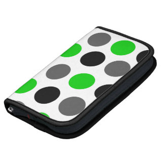 Bold Dots Green Smartphone Rickshaw Folio Folio Planner
