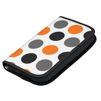 Bold Dots Orange Smartphone Rickshaw Folio Folio Planners