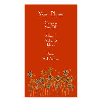 Bold & elegant retro flower garden business cards