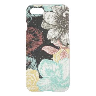 Bold Engraved Black Floral iPhone 8/7 Case