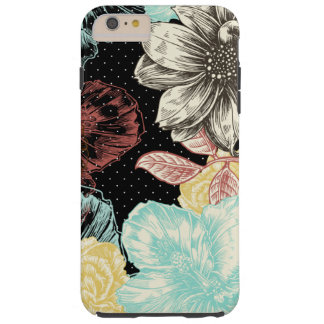 Bold Engraved Floral Tough iPhone 6 Plus Case