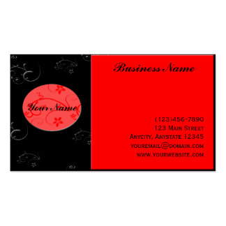 Bold Expressions in Red and Black Business Card