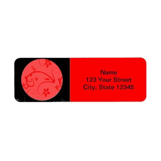 Bold Expressions in Red and Black Return Address Label