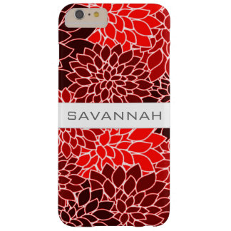Bold Expressions Red Dahlia Flower Monogram Barely There iPhone 6 Plus Case