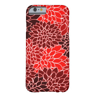 Bold Expressions Red Dahlia Flower Pattern Barely There iPhone 6 Case
