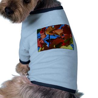 Bold Fall Leaves Dog Tshirt