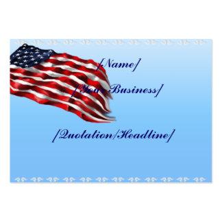 Bold Flag profilecard_chubby_horizontal Business Card Template