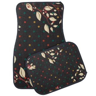 Bold Floral and Polka Dots Floor Mat
