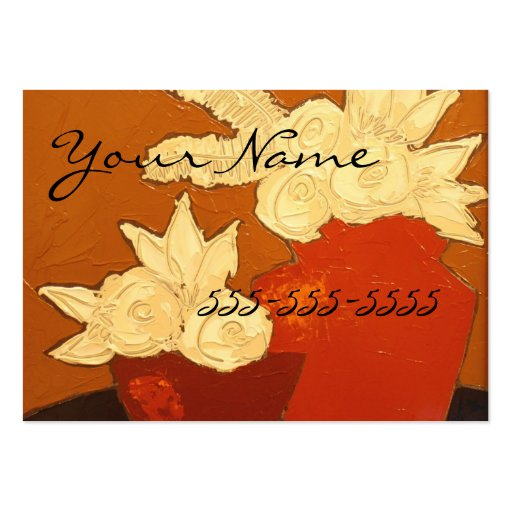 Bold floral business card