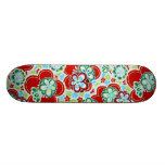 Bold Floral Skateboard