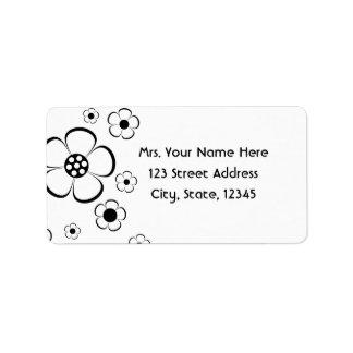 Bold Flowers Address Lables Label