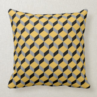 Bold Funky Optical Illusion Modern Patterned Cushion