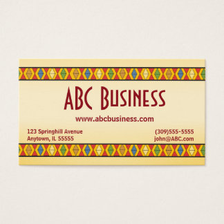 Bold Geometric Aztec Inspired Business Card