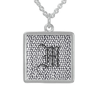 Bold geometric black pendants