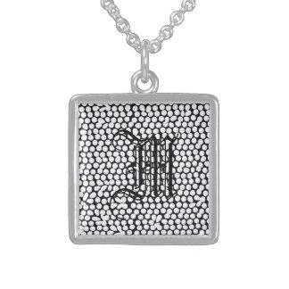 Bold geometric black sterling silver necklace