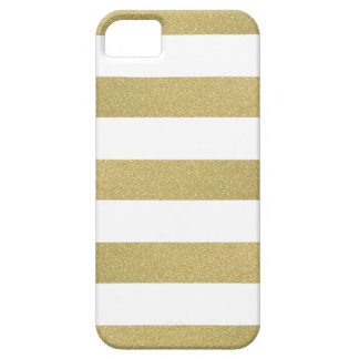 Bold Glitter Gold Stripes iPhone 5 Cover