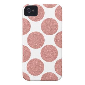 Bold Glitter Rose Gold Dots Case-Mate iPhone 4 Case
