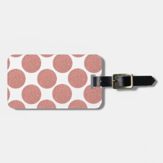 Bold Glitter Rose Gold Dots Luggage Tag