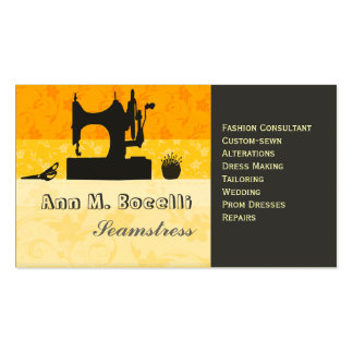 Bold Gold Artist Crafter Sewing Machine Customized Pack Of Standard Business Cards