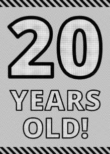 Bold Gold Foil 20 YEARS OLD Birthday Card