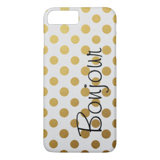 Bold Gold Polka Dots iPhone 8 Plus/7 Plus Case