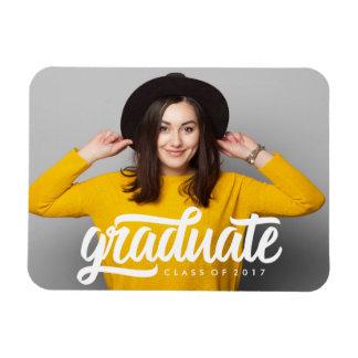 Bold Grad   Graduation Photo Magnet