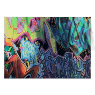 bold grafitti print card