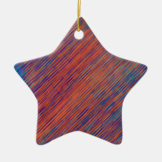 Bold Graphic with Calming Effect Ceramic Ornament